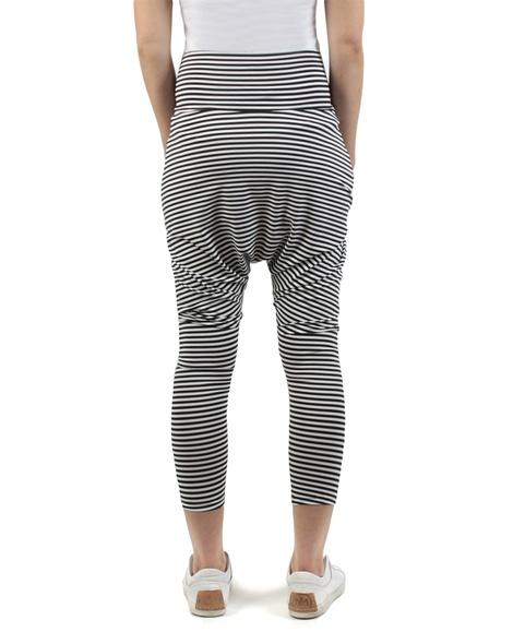 Stripey kerrie pant black white back copy