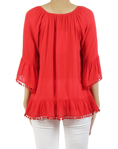 Castanet top red B
