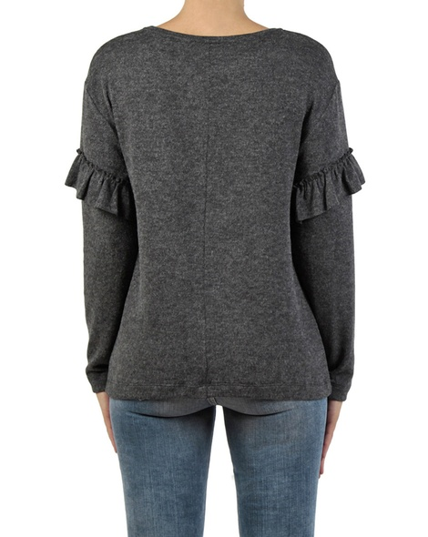 Maddie Frill Knit charcoal back