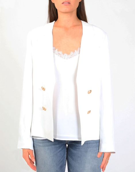 Miles blazer white