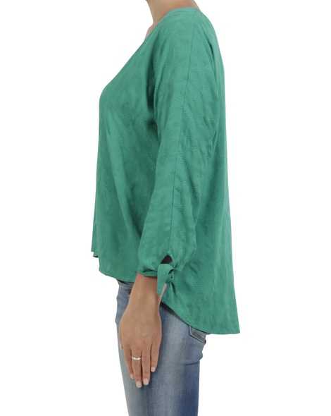 embroidered  odette top green C