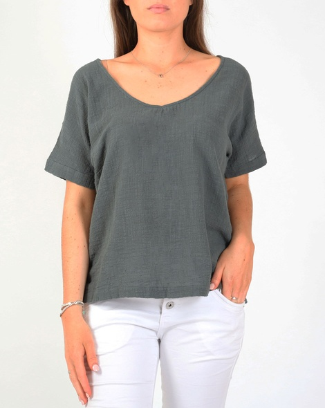Joely top green A