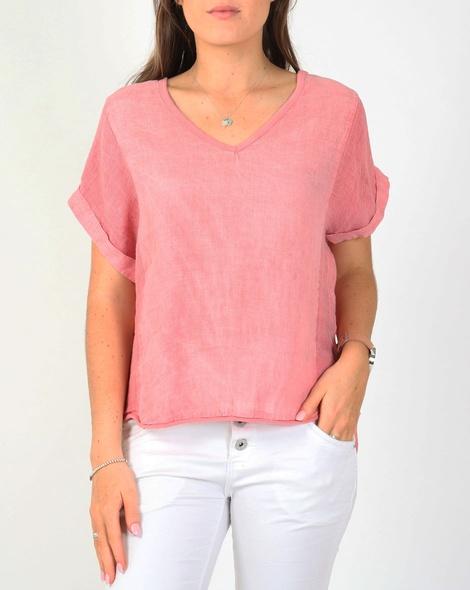 Havana linen top pink A