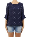 Spotty Day Dream blouse navy  A