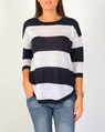 wide stripe pull over navy A
