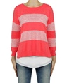 bold stripe jumper hibiscus front