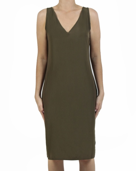 Kendall Dress olive front