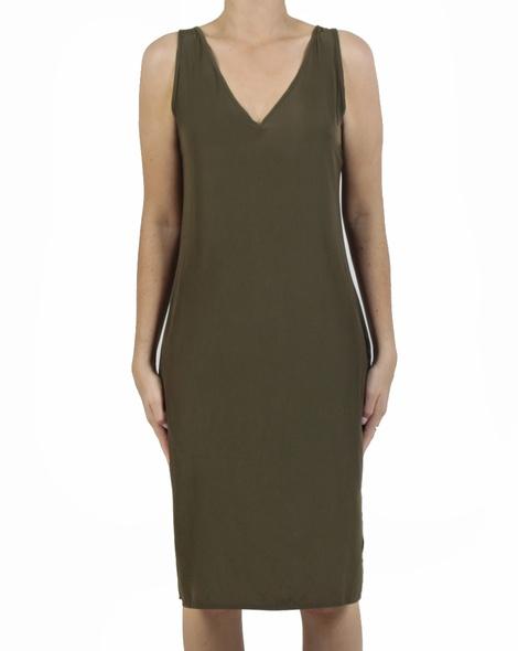 Kendall Dress olive front