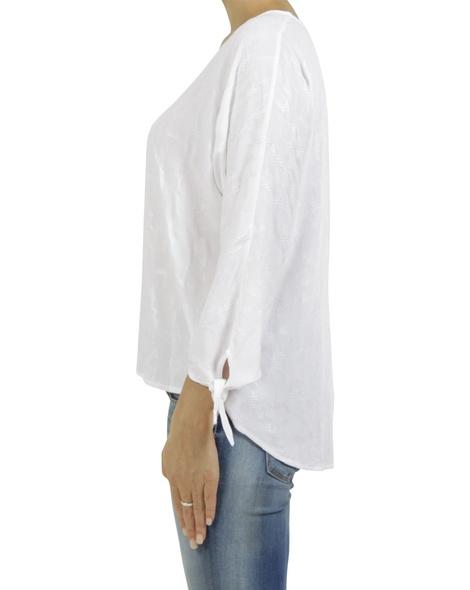 embroidered odette top white C