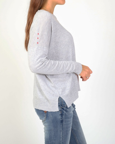 Tommie knit grey red C