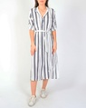Stripey shirt dress navy A