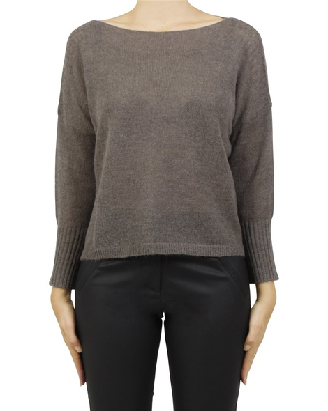 boat neck crop coffee A