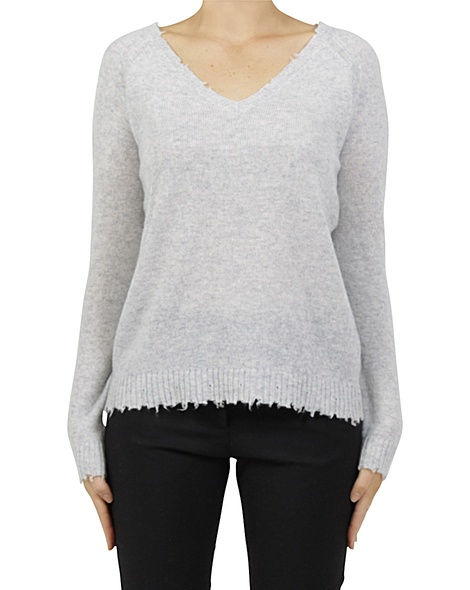 Distresed cashmere sweater A