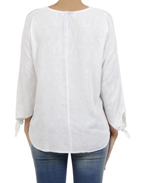 embroidered odette top white B