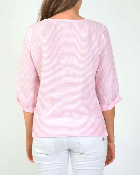 Heath linen top pink B