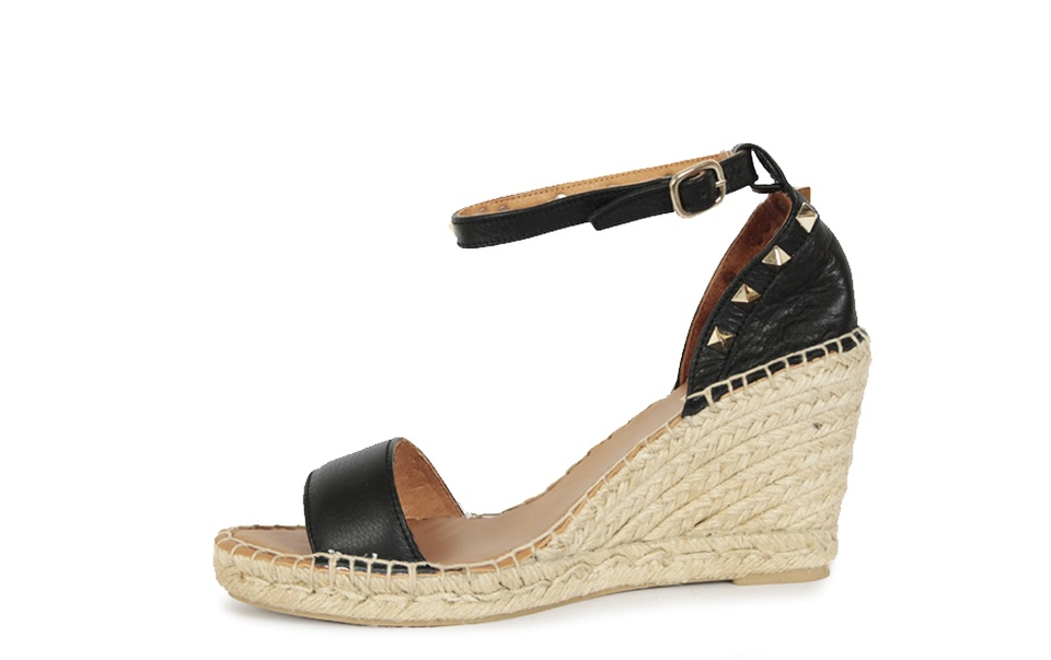 Hobbs Gold espadrille wedge sandals 6410460507