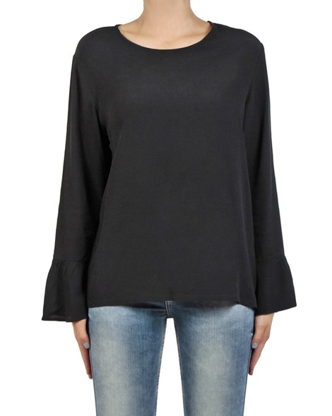 Shea frill top black front