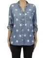Star print shirt A