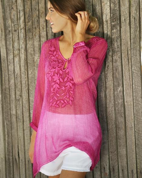 Ophelia Kaftan hot pink (3)