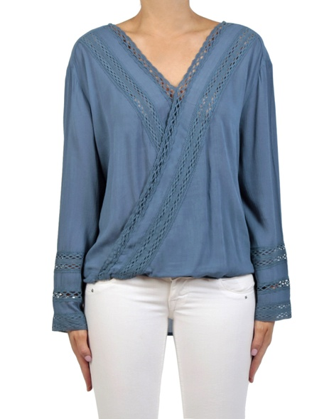 Leila top denim front