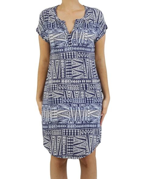 Printed shoulder dress A copy