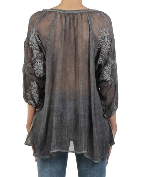 Wilhemina blouse charcoal back copy