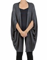 Snuggle cape charcoal front detail