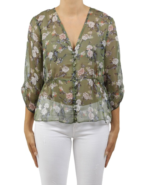floral catherine top green A