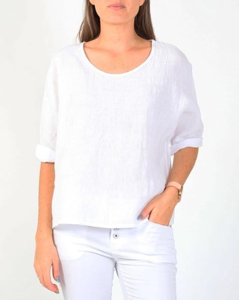 Piper linen top white A