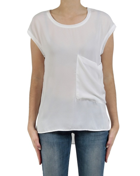 Charlie top white front