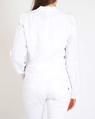 Linen biker jacket white B