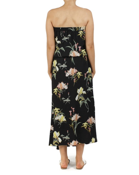 floral loveland dress black B new