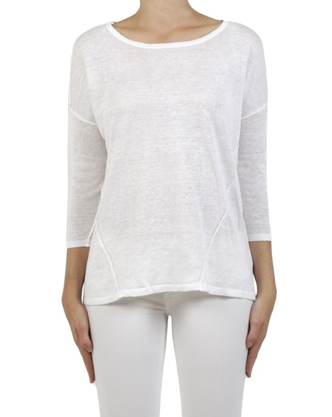 Forward side seam knit white front copy
