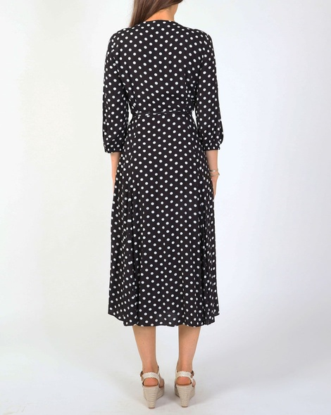 Spotty dorthea dress blk B new
