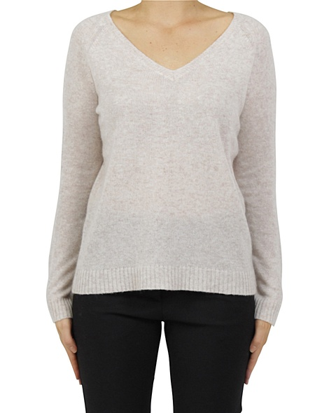 Luxe cashmere sweater blush A