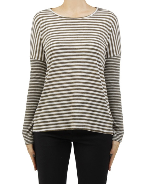 stripey lennon top khaki A