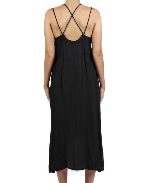 Soiree dress black back copy