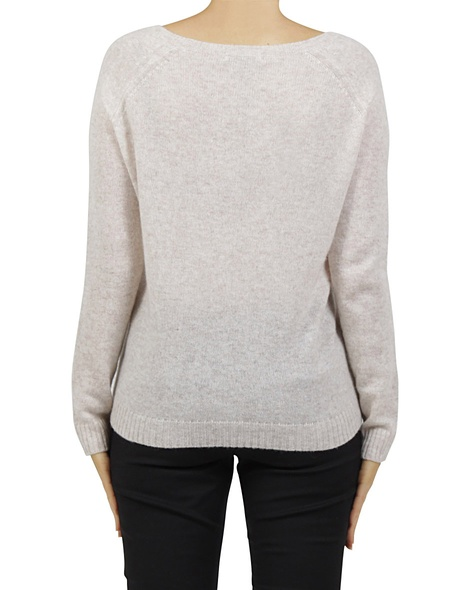 Luxe cashmere sweater blush B