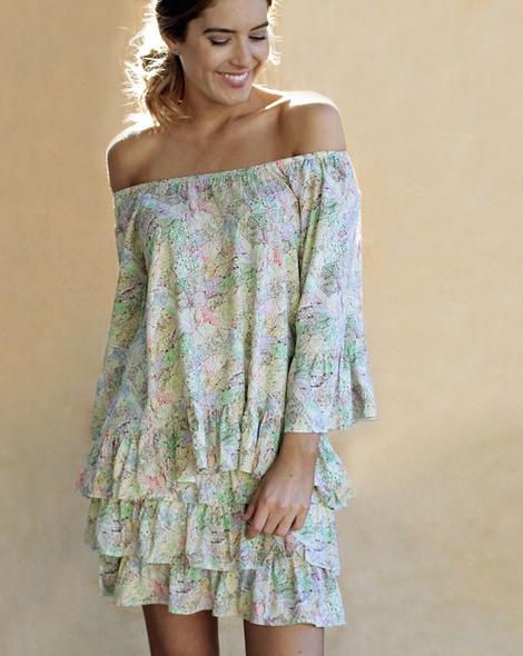 Sicily Posie Skirt + flamenco top yellow (12)
