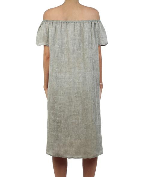 Roma dress khaki back