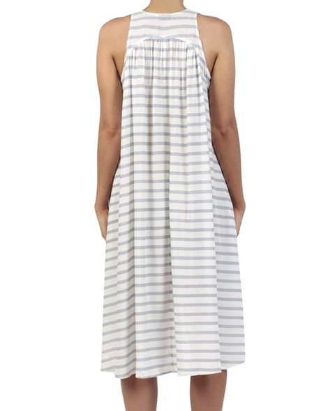 Stripey Abby dress navy back