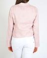Linen biker jacket pink B