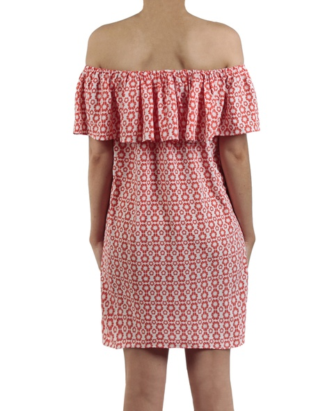 Hibiscus dress red back copy