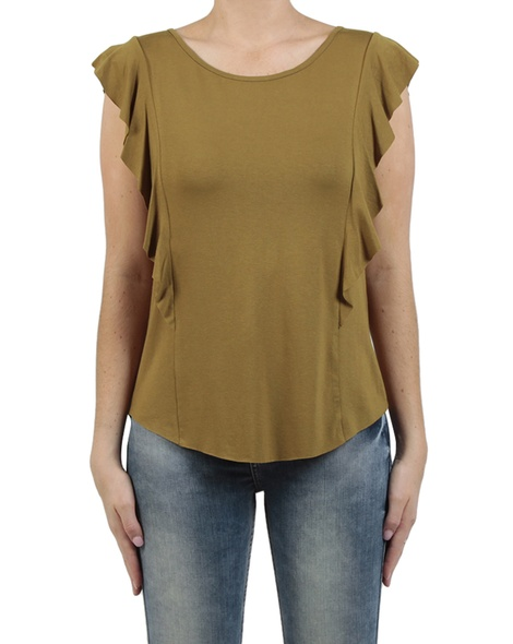 Zoey frill top moss front copy