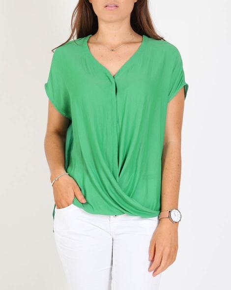 Camina top green A