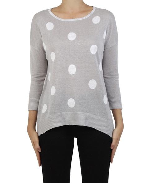 Spots + stripes pullover perter white front copy