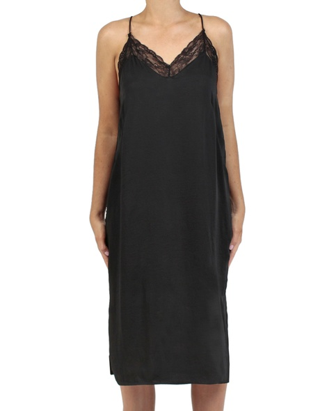 Shiona Slip dress black front