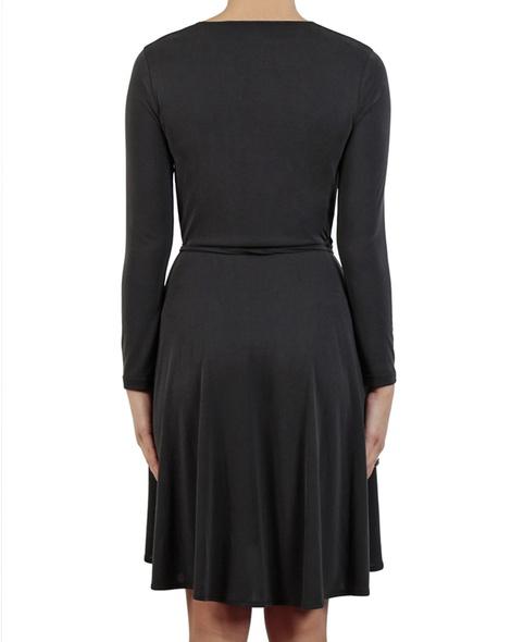 Beckham Wrap Dress black back
