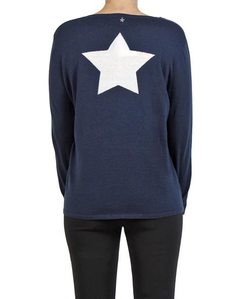 V Star back sweater navy back copy