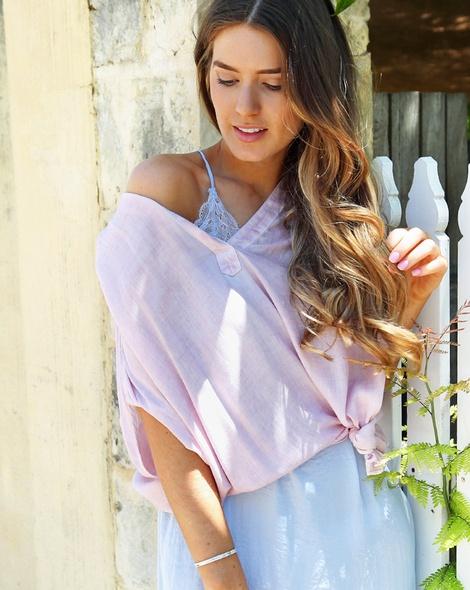 Shiona Slip dress sky + Thea top pink (8)